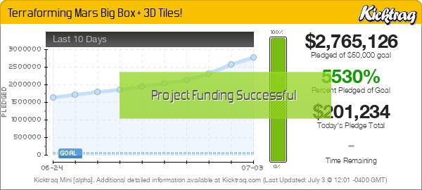 Terraforming Mars Big Box + 3D Tiles! - Kicktraq Mini