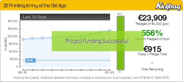 3D Printing Army of the Old Age - Kicktraq Mini