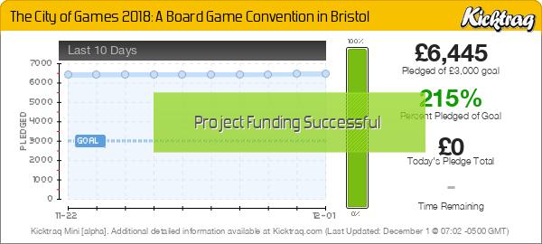 The City of Games 2018: A Board Game Convention In Bristol -- Kicktraq Mini
