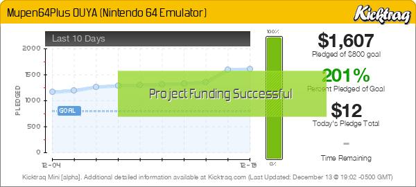 Mupen64Plus OUYA (Nintendo 64 Emulator) by Paul Lamb :: Kicktraq