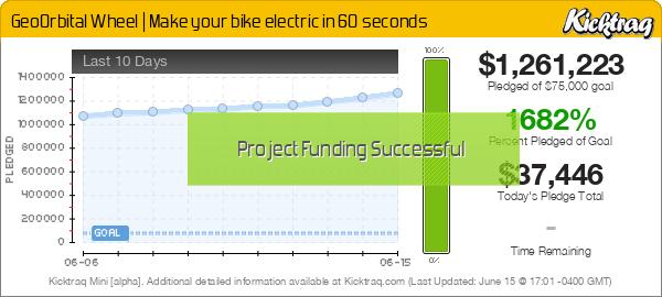 GeoOrbital Wheel | Make your bike electric in 60 seconds -- Kicktraq Mini