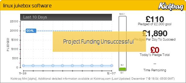 linux jukebox software by Jerry Richard Weeks :: Kicktraq