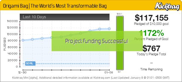 Origami Bag   The World's Most Transformable Bag -- Kicktraq Mini