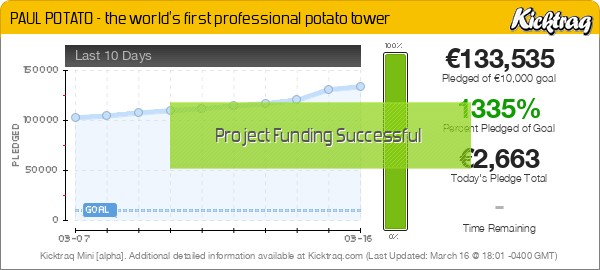 PAUL POTATO - the world's first professional potato tower -- Kicktraq Mini