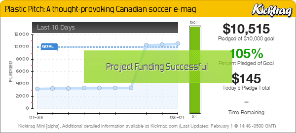Plastic Pitch: A thought-provoking Canadian soccer e-mag -- Kicktraq Mini