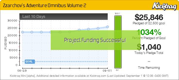 Zzarchov's Adventure Omnibus Volume 2 - Kicktraq Mini