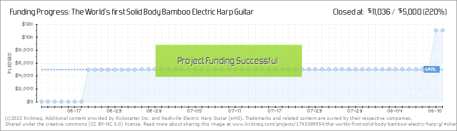 The World's first Solid Body Bamboo Electric Harp Guitar by