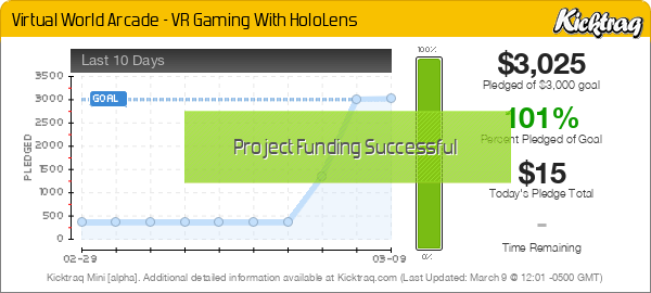 Virtual World Arcade - VR Gaming With HoloLens -- Kicktraq Mini