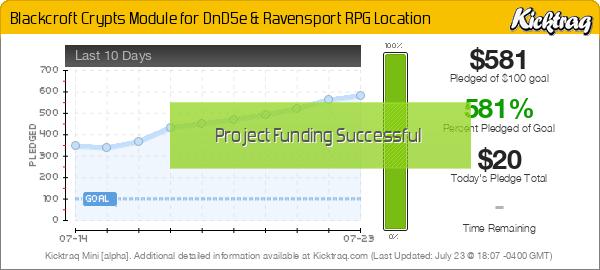 Blackcroft Crypts Module for DnD5e & Ravensport RPG Location - Kicktraq Mini
