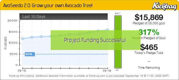 AvoSeedo 2.0: Grow your own Avocado Tree! -- Kicktraq Mini