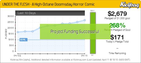 UNDER THE FLESH - A High-Octane Doomsday Horror Comic -- Kicktraq Mini