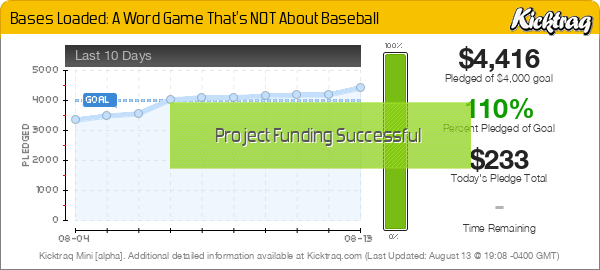 Bases Loaded: A Word Game That's NOT About Baseball - Kicktraq Mini