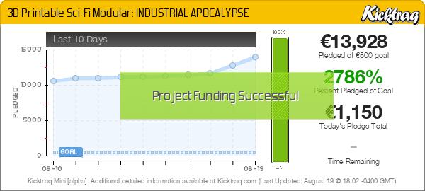 3D Printable Sci-Fi Modular: INDUSTRIAL APOCALYPSE - Kicktraq Mini
