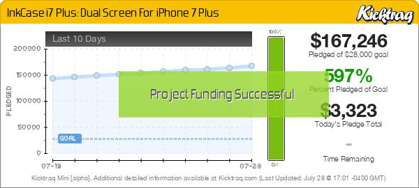 InkCase i7 Plus: Dual Screen For iPhone 7 Plus -- Kicktraq Mini