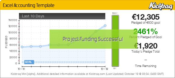 Excel Accounting Template -- Kicktraq Mini