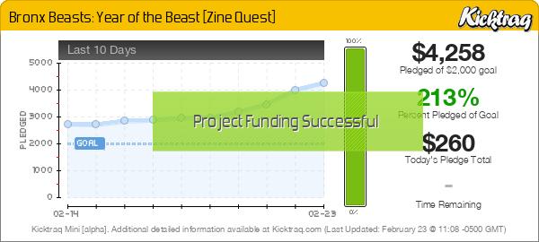 Bronx Beasts: Year of the Beast [Zine Quest] - Kicktraq Mini