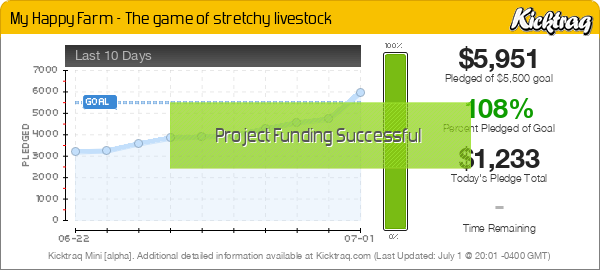 My Happy Farm - The game of stretchy livestock -- Kicktraq Mini