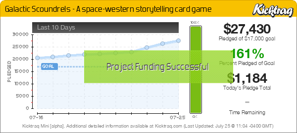 Galactic Scoundrels - A space-western storytelling card game -- Kicktraq Mini