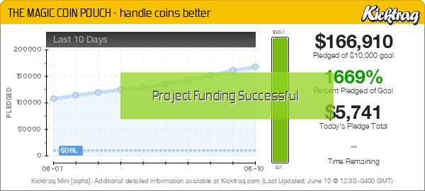 THE MAGIC COIN POUCH - handle coins better -- Kicktraq Mini