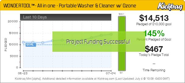 WONDERTOOL™- All in one - Portable Washer & Cleaner w/ Ozone -- Kicktraq Mini