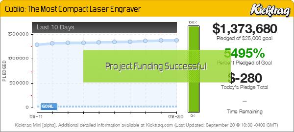 Cubiio: The Most Compact Laser Engraver -- Kicktraq Mini