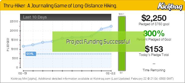 Thru-Hiker: A Journaling Game of Long-Distance Hiking - Kicktraq Mini