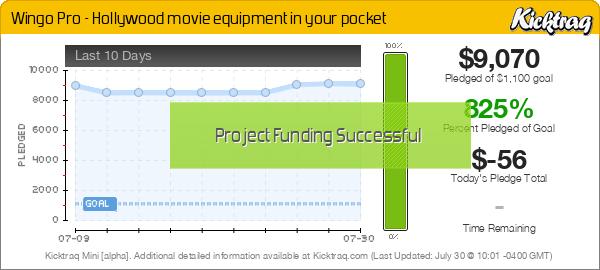 Wingo Pro - Hollywood movie equipment in your pocket -- Kicktraq Mini