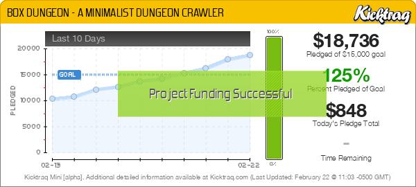 BOX DUNGEON - A MINIMALIST DUNGEON CRAWLER - Kicktraq Mini