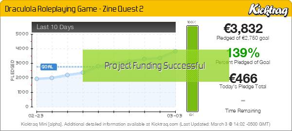 Draculola Roleplaying Game - Zine Quest 2 -- Kicktraq Mini