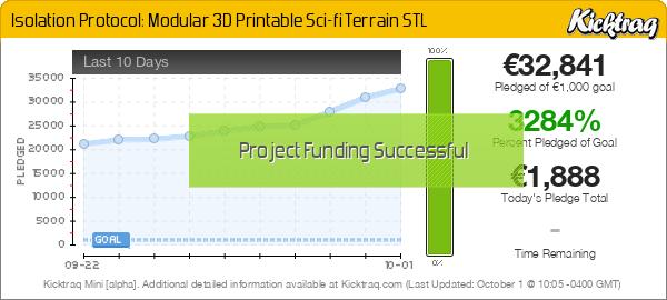 Isolation Protocol: Modular 3D Printable Sci-fi Terrain STL - Kicktraq Mini