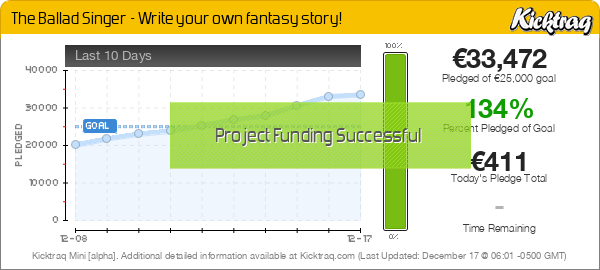 The Ballad Singer - Write your own fantasy story! -- Kicktraq Mini