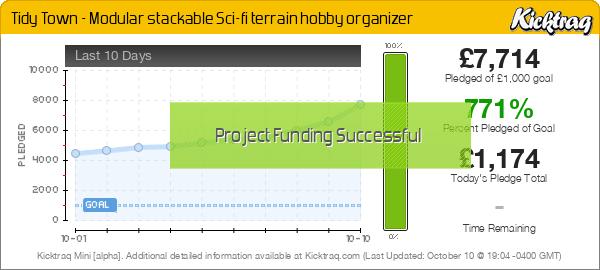 Tidy Town - Modular stackable Sci-fi terrain hobby organizer -- Kicktraq Mini