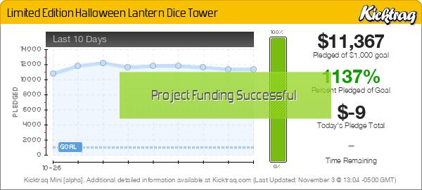 Limited Edition Halloween Lantern Dice Tower - Kicktraq Mini