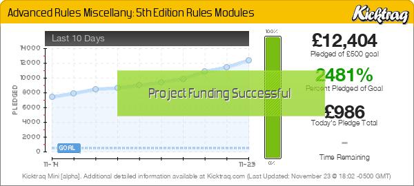 Advanced Rules Miscellany: 5th Edition Rules Modules - Kicktraq Mini
