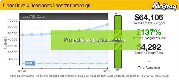 Blood Drive: A Deadlands Booster Campaign - Kicktraq Mini