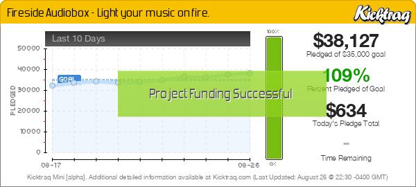 Fireside Audiobox - Light your music on fire. -- Kicktraq Mini
