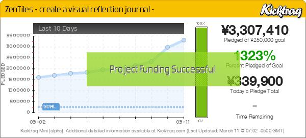 ZenTiles - create a visual reflection journal - -- Kicktraq Mini