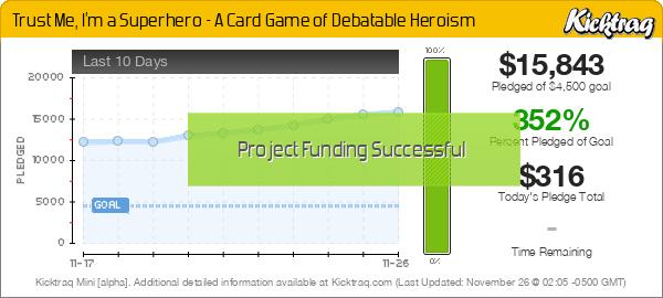 Trust Me, I'm a Superhero - A Card Game of Debatable Heroism - Kicktraq Mini