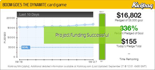 BOOM GOES THE DYNAMITE card game -- Kicktraq Mini