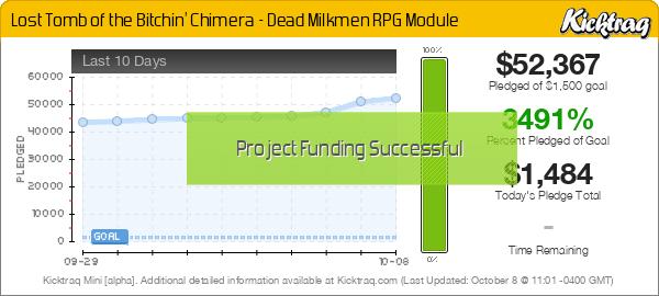 Lost Tomb of the Bitchin' Chimera - Dead Milkmen RPG Module - Kicktraq Mini