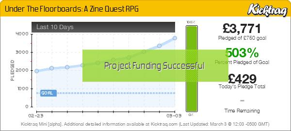 Under The Floorboards: A Zine Quest RPG -- Kicktraq Mini