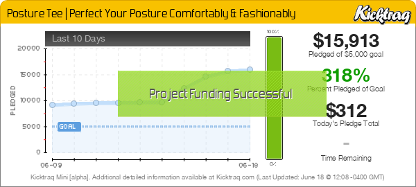 Posture Tee | Perfect Your Posture Comfortably & Fashionably -- Kicktraq Mini