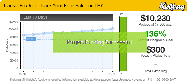TrackerBox Mac - Track Your Book Sales on OSX -- Kicktraq Mini
