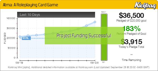 Atma: A Roleplaying Card Game - Kicktraq Mini