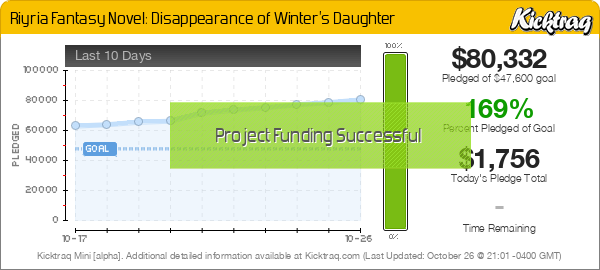 Riyria Fantasy Novel: Disappearance of Winter's Daughter -- Kicktraq Mini
