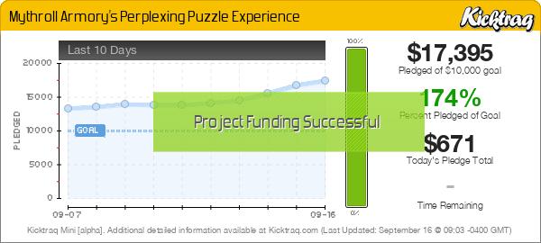 Mythroll Armory's Perplexing Puzzle Experience - Kicktraq Mini