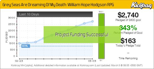 Grey Seas Are Dreaming Of My Death: William Hope Hodgson RPG -- Kicktraq Mini