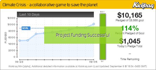 Climate Crisis - a collaborative game to save the planet - Kicktraq Mini