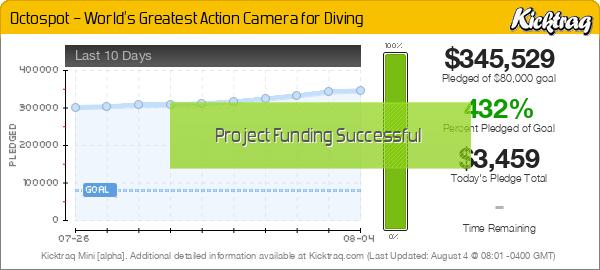 Octospot – World's Greatest Action Camera for Diving -- Kicktraq Mini
