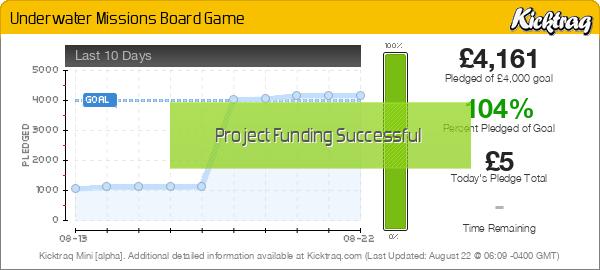 Underwater Missions Board Game - Kicktraq Mini